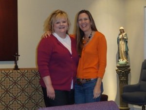 Here I am with the Director of the Women's Help Center during one of my visits to discuss Mary.