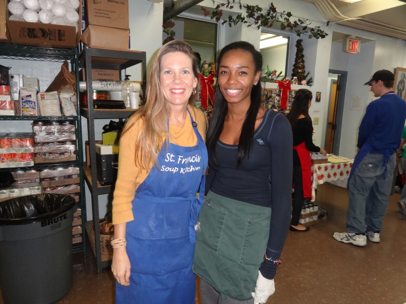Me and one of the many beautiful volunteers I met.  She commutes 25 minutes every Saturday simply because she wants to give back.
